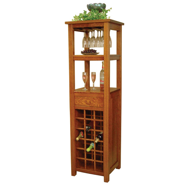 Amish Macon Wine Tower | Amish Furniture | Shipshewana Furniture Co.
