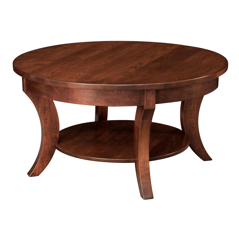 Madison Round Coffee Table Amish Coffee Tables Amish