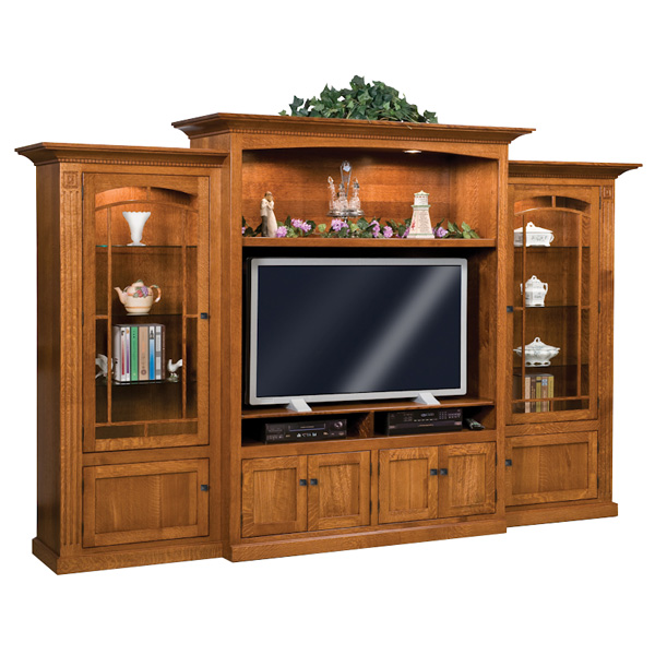 Amish Manhattan Mission 3pc Wall Unit | Amish Furniture | Shipshewana Furniture Co.