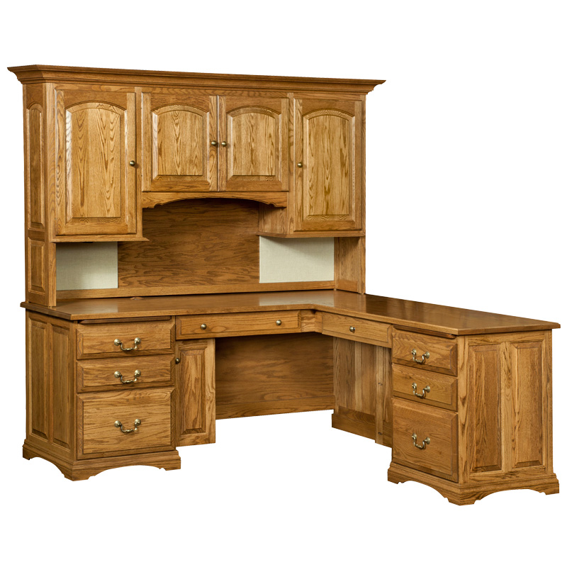 Amish Mannington Corner Desk / Hutch Top | Amish Furniture | Shipshewana Furniture Co.