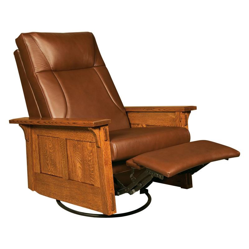Amish mccoy swivel rocker recliner amish furniture shipshewana