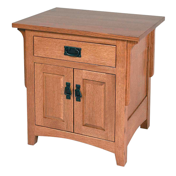 Millcreek Mission 2 Door, 1 Drawer Night Stand