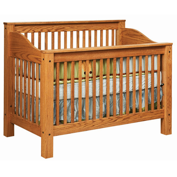 Amish Mission Crib | Amish Furniture | Shipshewana Furniture Co.