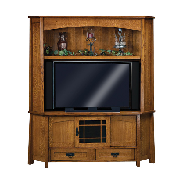 Amish Modesto Corner TV Cabinet | Amish Furniture | Shipshewana Furniture Co.