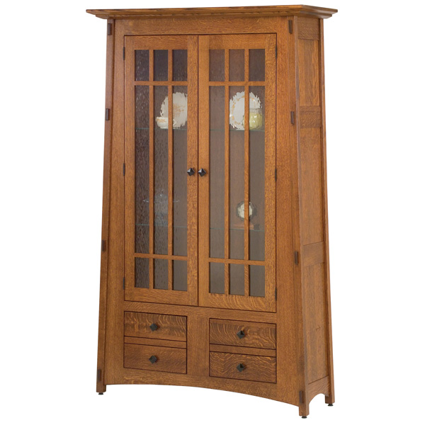 montana glass bookcase amish bookcases