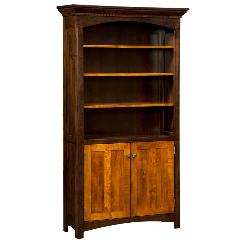 Oakwood Bookcase with Doors