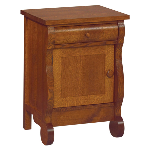 Old Classic Sleigh 1 Drawer, 1 Door Nightstand