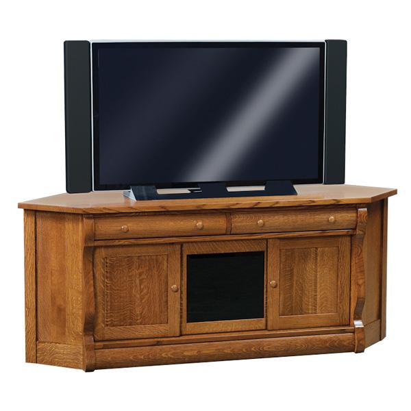 Old Classic Sleigh Corner Tv Stand Shipshewana Furniture Co