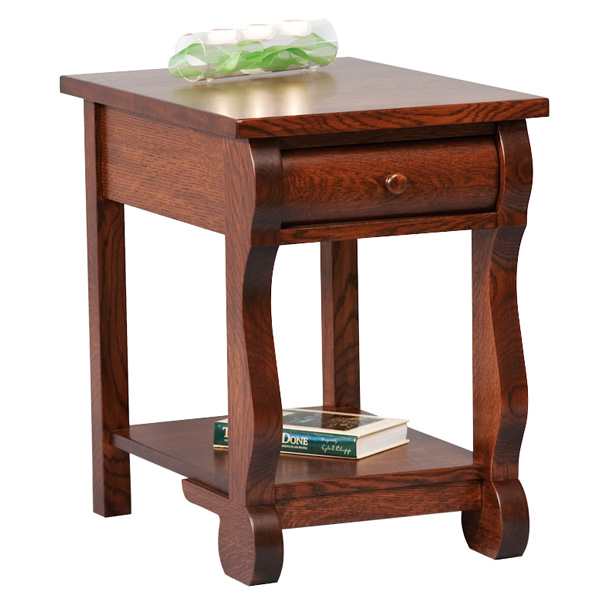 Old Classic Sleigh Open End Table