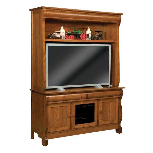 Amish Old Classic Sleigh TV Cabinet | Amish Furniture | Shipshewana Furniture Co.