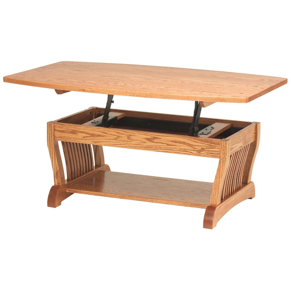 Amish Royal Mission Lift-top Coffee Table | Amish Furniture | Shipshewana Furniture Co.