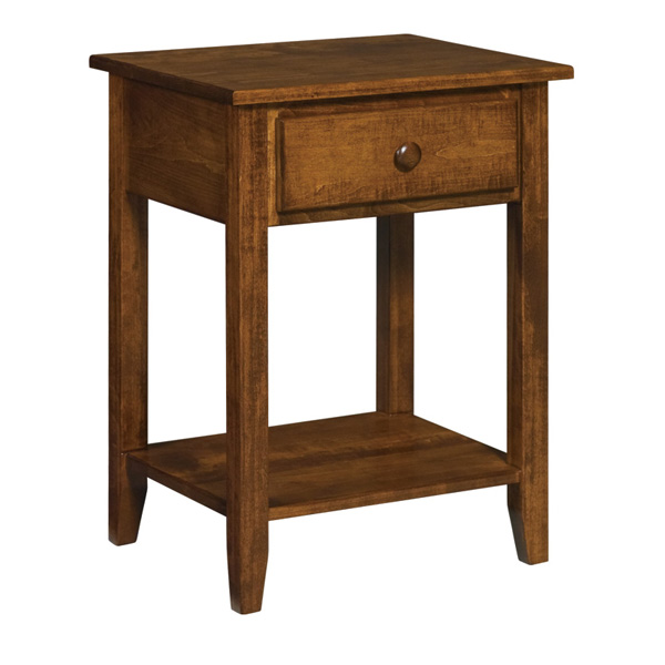 Shaker J&R 1 Drawer Open Nightstand