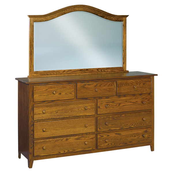 Shaker J&R 9 Drawer Mule Dresser 72""