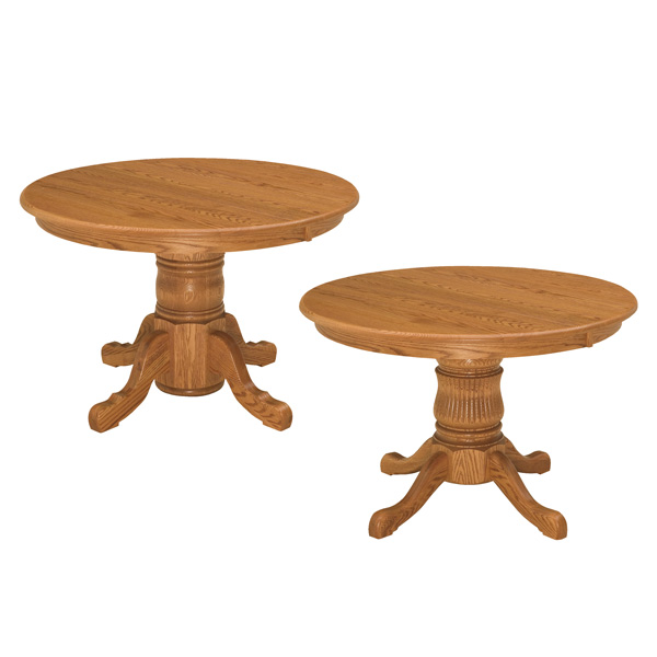 Amish Shasta Single Pedestal Tables | Amish Furniture | Shipshewana Furniture Co.