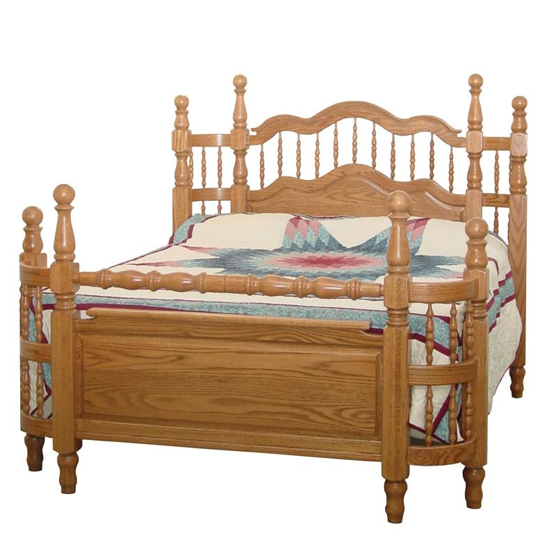 Tall Wrap Around Bed Amish Furniture Shipshewana