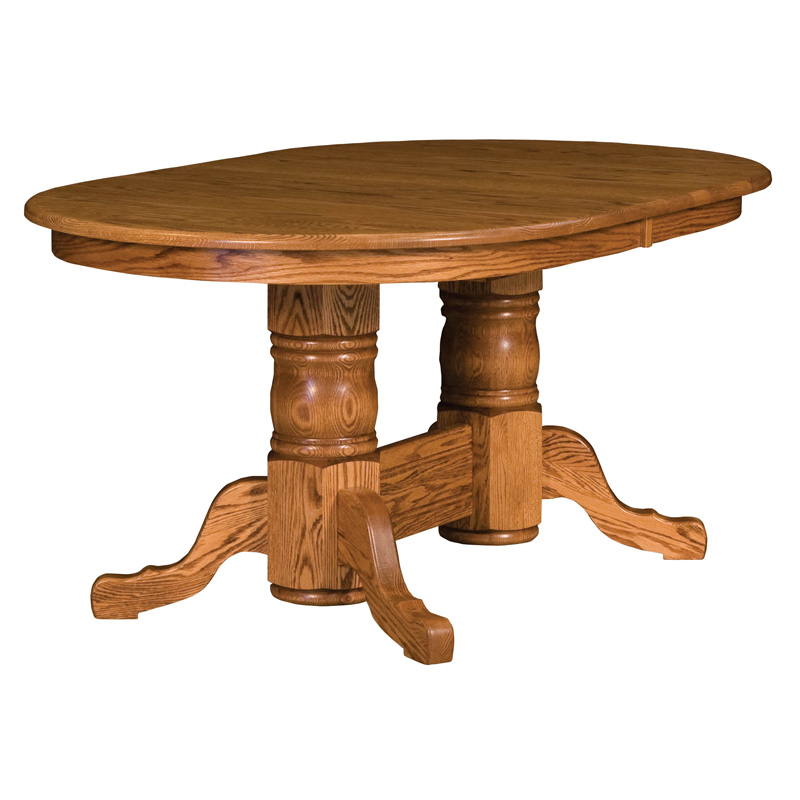 Amish Townsend Double Pedestal Extension Table | Amish Furniture | Shipshewana Furniture Co.