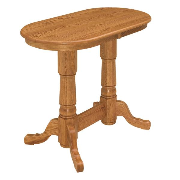 Amish Shasta Pub Double Pedestal Table | Amish Furniture | Shipshewana Furniture Co.
