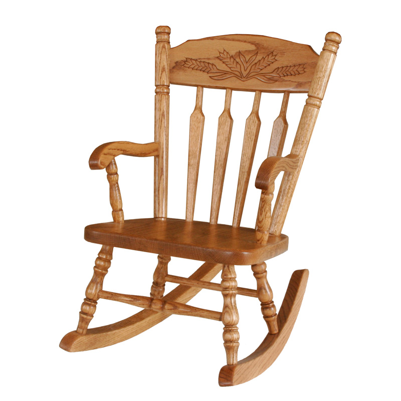 Amish Wheat Childs Rocker | Amish Furniture | Shipshewana Furniture Co.